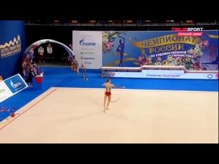 ● Анастасия Симакова - Обруч (многоборье) / Чемпионат России 2021