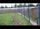 Строю забор из профнастила 2-1 Второй этап - начало сборки опалубки