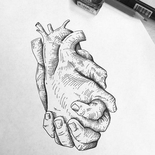 creative hand drawings - 524×563