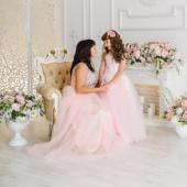 Комплект для мамы и дочки (нежно-розовый №2)