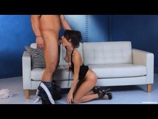 Jenni Lee Hardcore Sex On White Sofa [Brunette, High Heels, Hardcore, Cumshot, Passion, 720p]