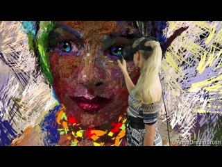 Virtual reality painting_ Chatting with summers elf