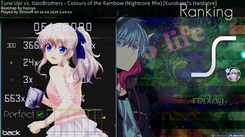 Colours of the Rainbow Kurokami's Hardocore MISS = GAME OVER osu