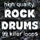 High Quality Rock Drums - Funky Rock Drum Loop 90 Bpm 4