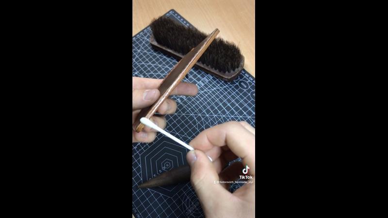 Процесс изготовления кошелька