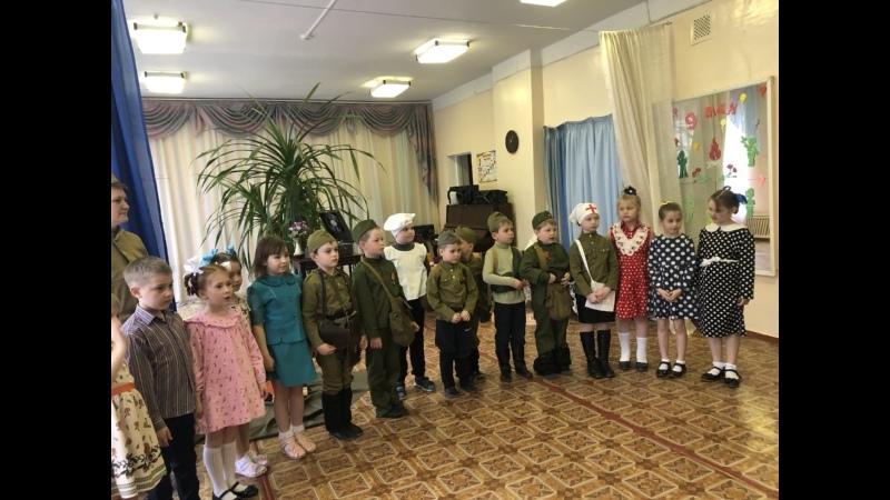 Театрализованная постановка, посвященная Дню Победы, Фронтовик