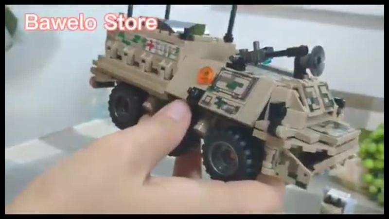 Модель военного танка sembo 308 шт строительные блоки ww2 армейский грузовик бронированная скорая помощь фигурки солдат