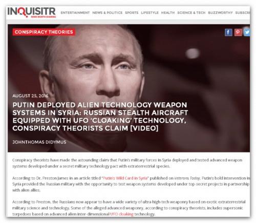 Inquisitr: «Инопланетное оружие» Путина печалит американских военных L08UJIUmIqk