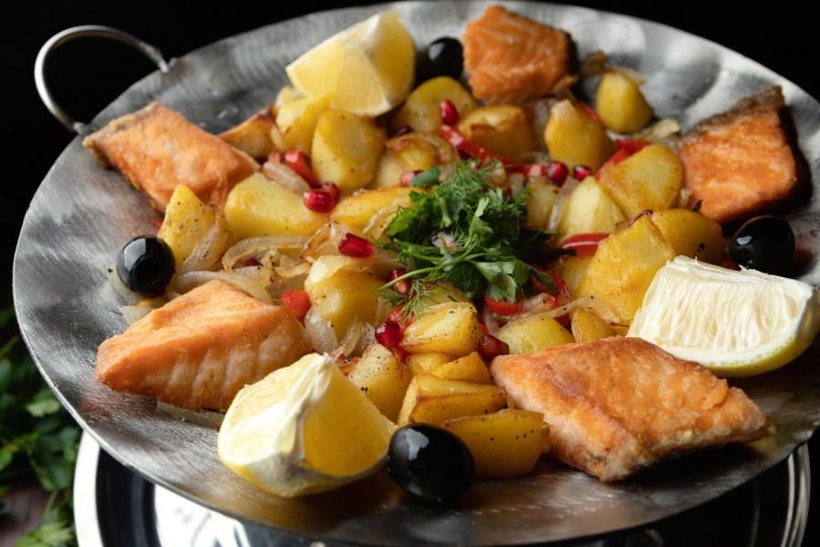 «Семга с картофелем и грибами» 300 гр