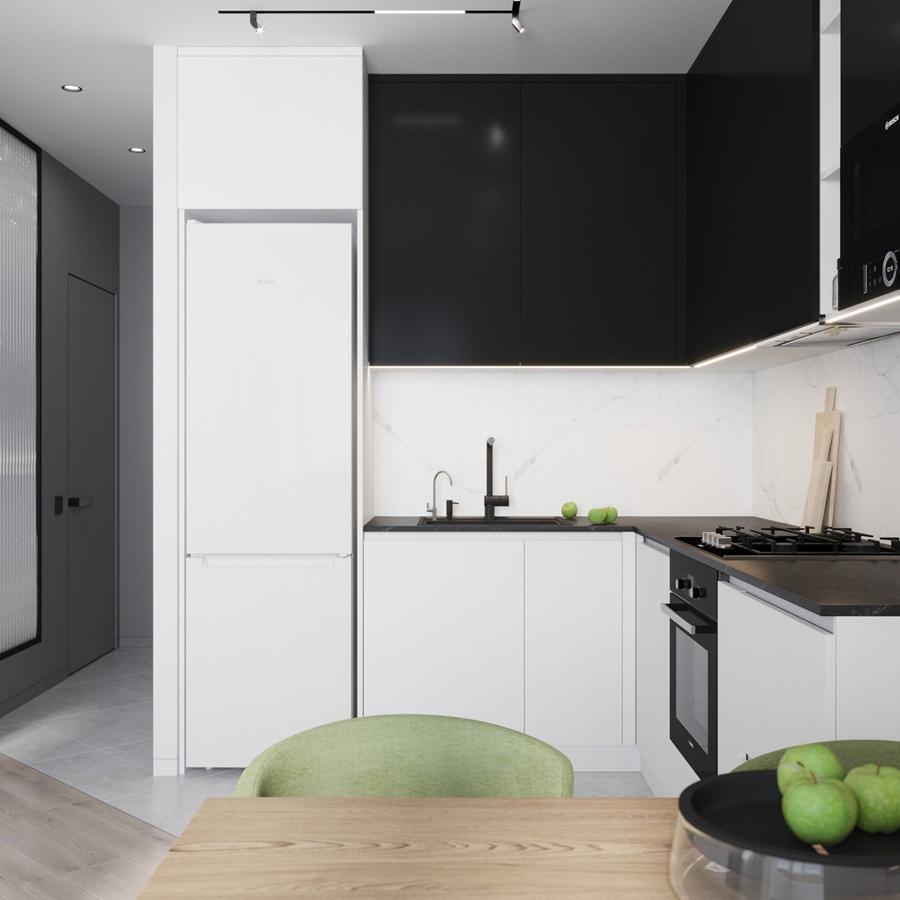 Проект студийной квартиры 41,5 кв.