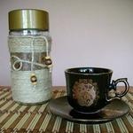 Декорирование кофейнях баночек натуральными материалами