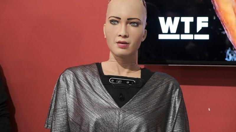 """Sophia, the future AI GODIls ont donc décidé d' inserer dans le corps humain, par ' injection' ,un système nanométrique émetteur récepteur, utiliser les gens comme antennes et """"datas fournisseurs in vivo"""" pour les AI et meme de lire leurs pensées et donc les ' recolter' ,d'influencer leurs pensées et leurs émotions, voire de les controler au niveau neuronal."""