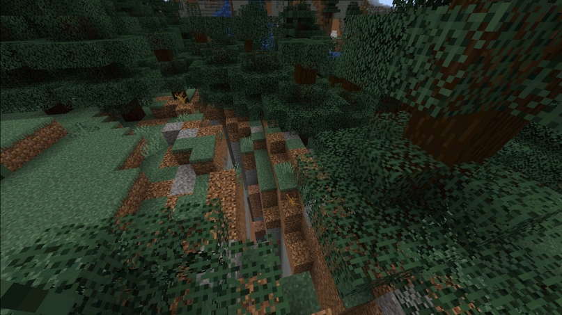 Глубокие расщелины с холмами.