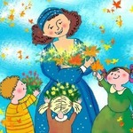 Маму крепко поцелую! — короткие детские стихи и поздравления для мамы