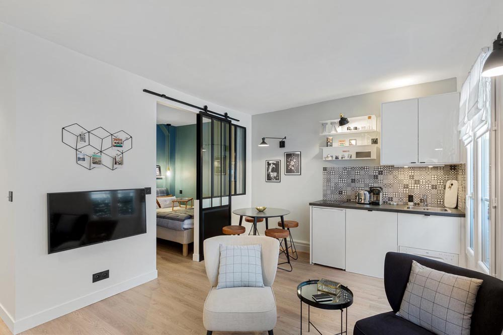 Дизайн студийной квартиры 25 кв.