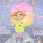 Капли сыплются с небес — стихи про дождь