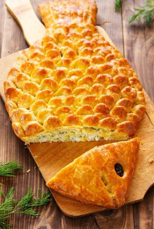 """, как сделать пирог """"Рыба"""" с рыбной начинкой,"""