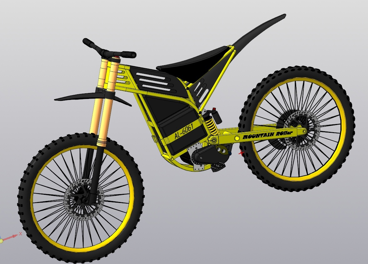 Постройка лёгкого электро мотоцикла на алюминиевой раме