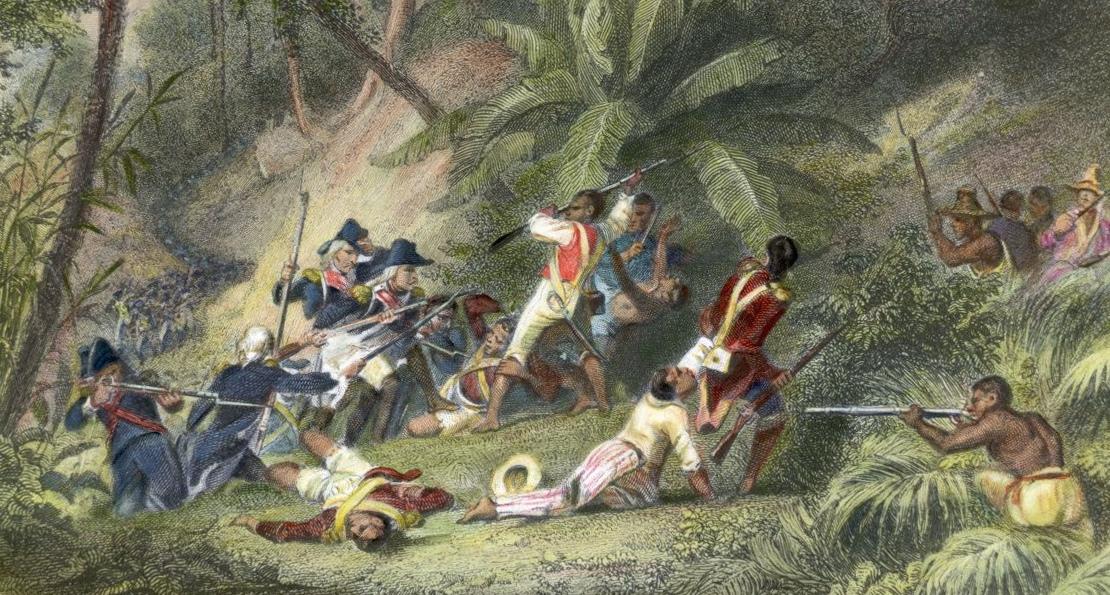 Бой с французской пехотой