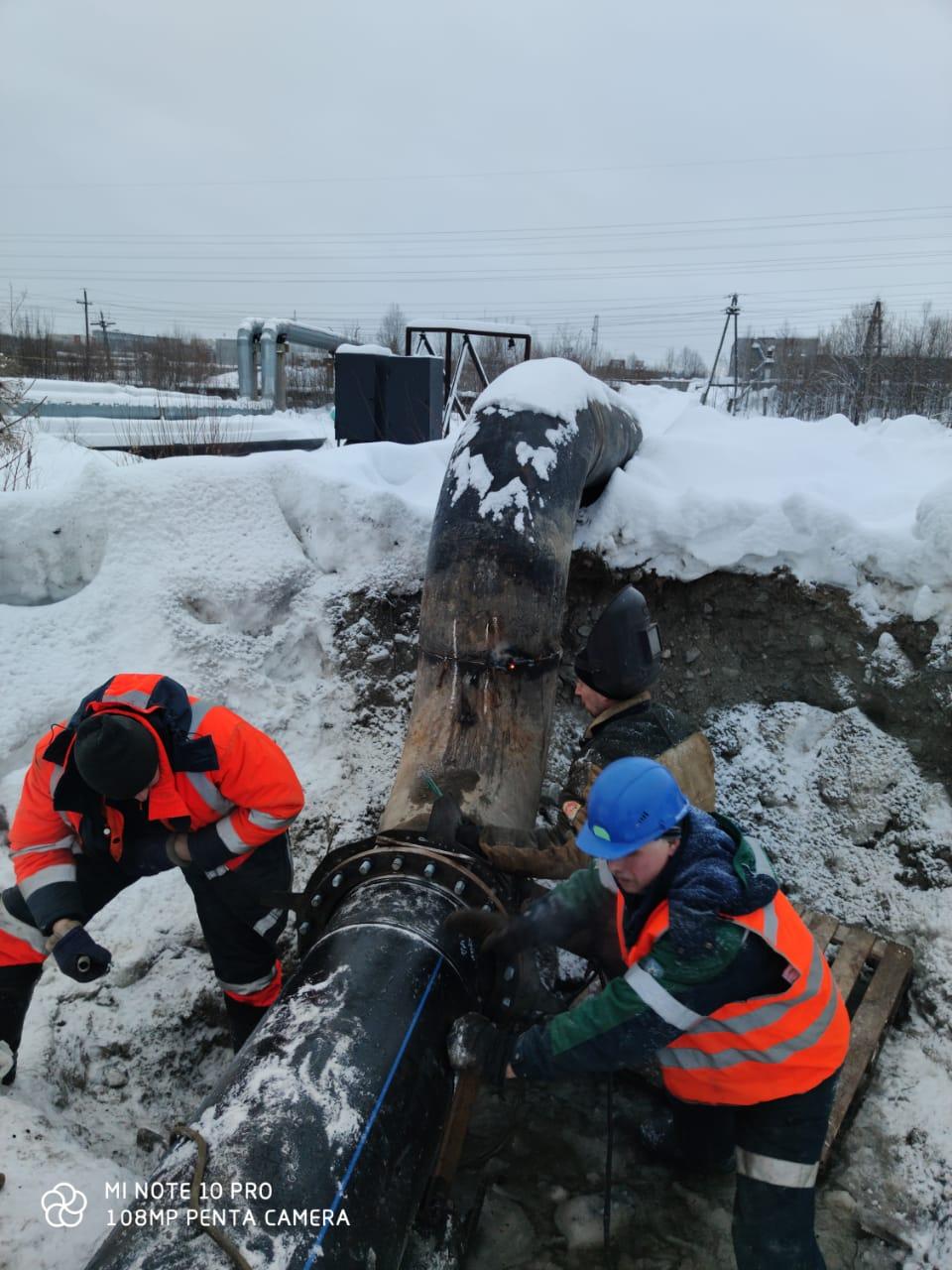 Замена участка магистрального водовода