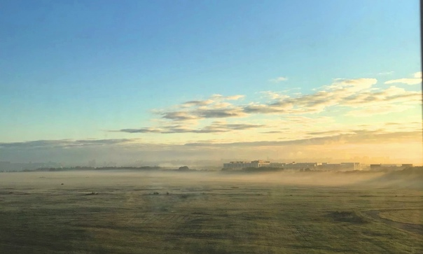 ✏ Пост от подписчицы. Туманное утреннее поле в Ста...
