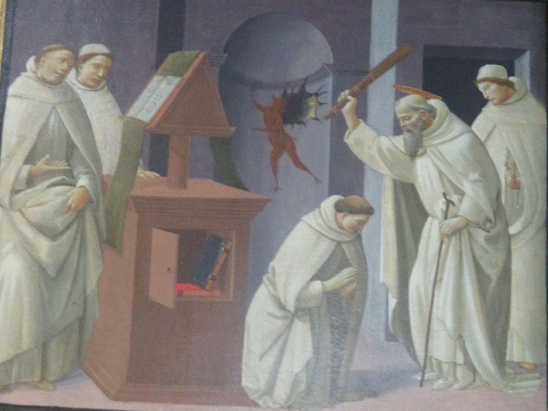 Источник: https://commons.wikimedia.org/wiki/Category:15th-century_paintings_of_Benedict_of_Nursia#/media/File:La_Correction_du_moine_possédé_(recadrée).jpg