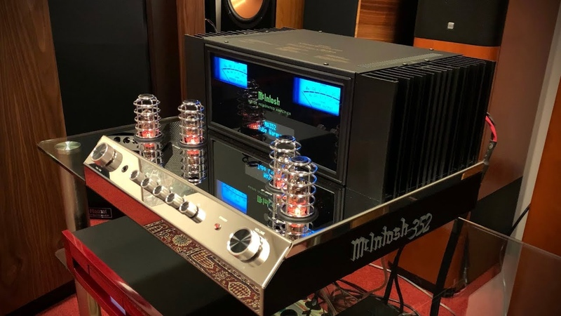 NEW McIntosh MA352 Hybrid Amplifier driving TANNOY Cheviot Loudspeakers
