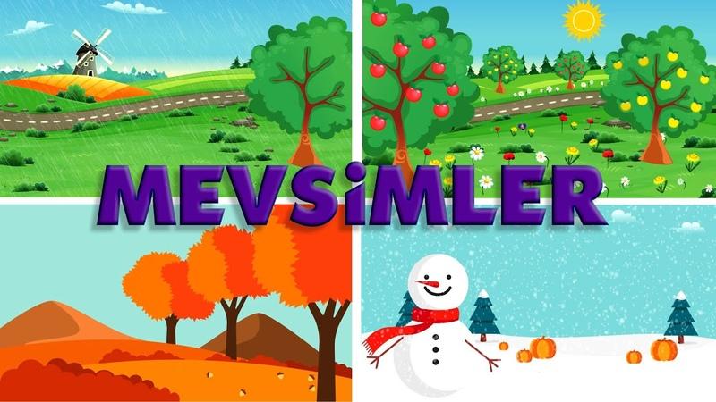Mevsimleri Öğreniyorum Mevsimler ve Aylar Okul Öncesi Eğitim
