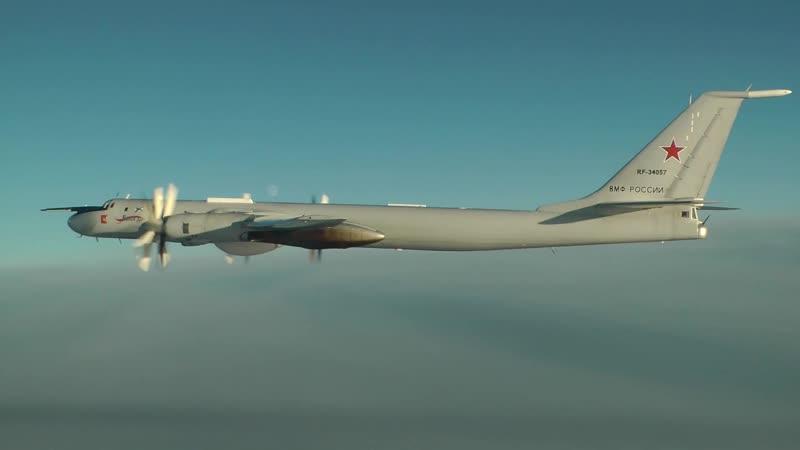 Плановый полёт Ту-142 Северного флота над нейтральными водами Баренцева, Норвежс