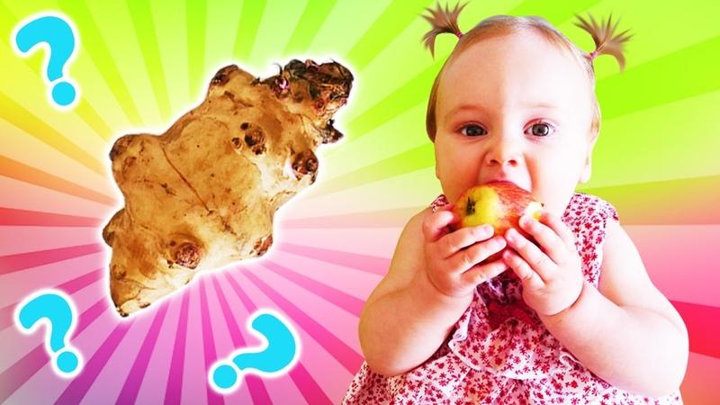 Yer elması ile normal elmanın farkı ne Oyuncak kamyon Leo ile eğitici oyun. Çocuk videosu.