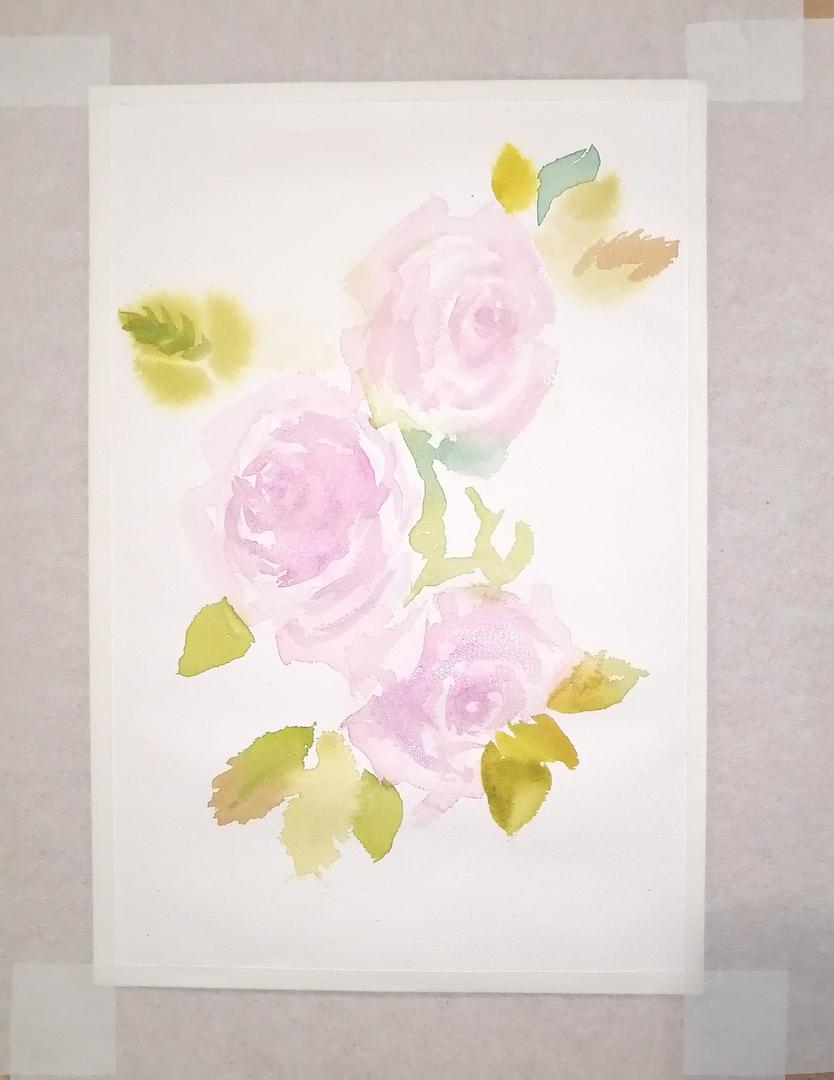 ОНЛАЙН-УРОК по рисованию «Дикая роза», изображение №6