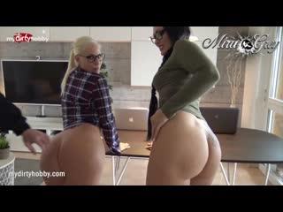 Mydirtyhobby two sexy girls threesome (amateur, blowjob, cumshot, german, porn, cum, facial, домашнее, немецкое, минет)