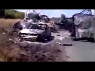 Нацгвардия уничтожила колонну российских боевиков. Амвросиевка.