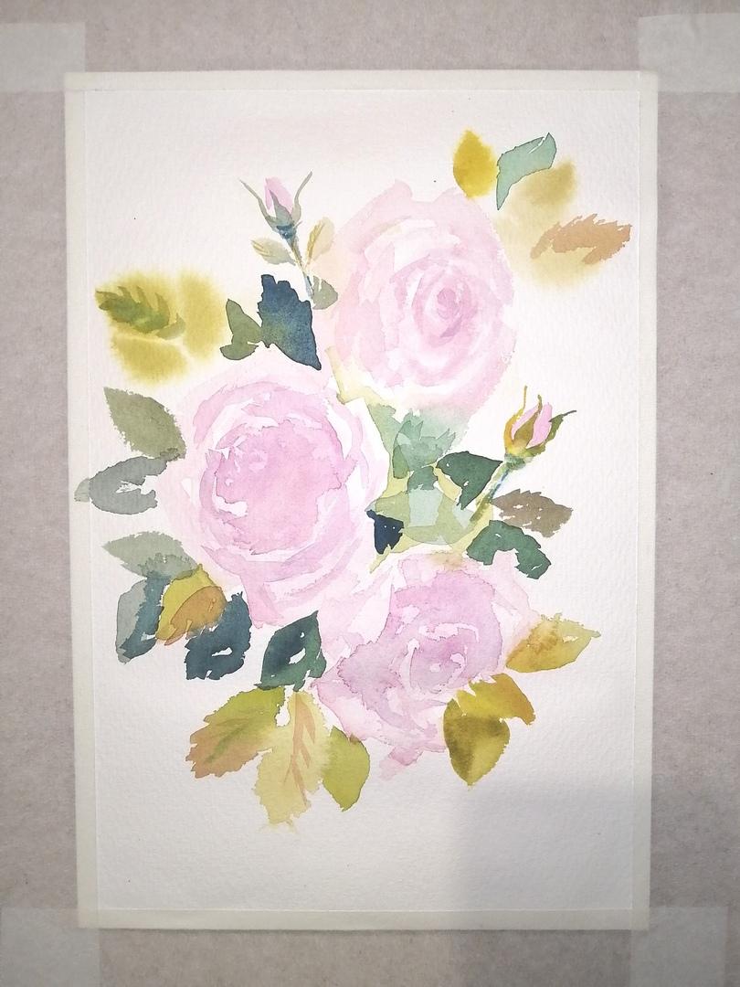 ОНЛАЙН-УРОК по рисованию «Дикая роза», изображение №7