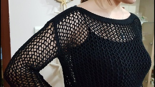 KURTARAN BLUZ MODELİ / fishnet blouse tutorıal #niluferorgu