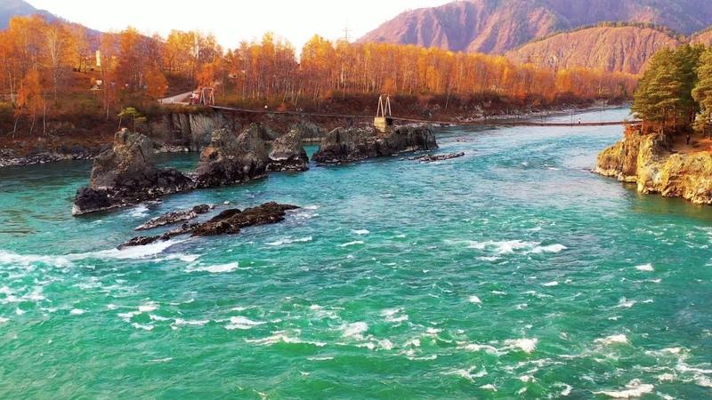 Река Катунь Зубы Дракона Горный Алтай в 4К
