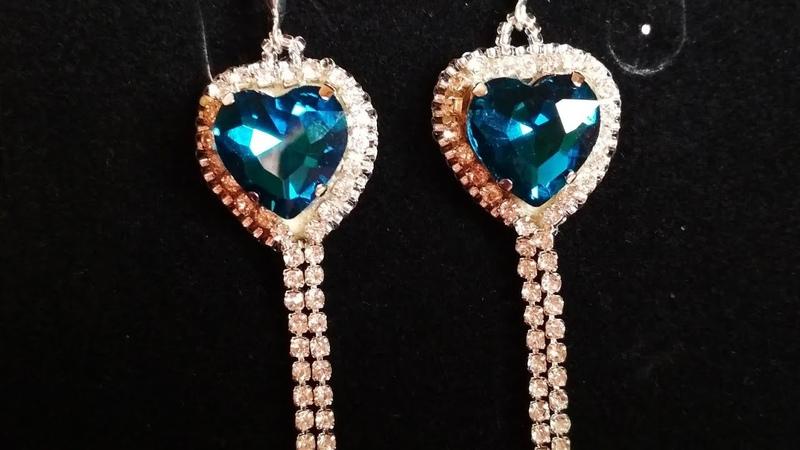 Earrings. Серьги со стразами по МК BeautyHM Loi
