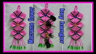 Diy/ to make macrame flower key hanger