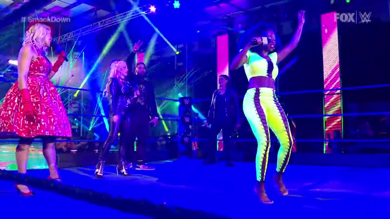 Naomi Lacey Evans Dana Brooke and Tamina meet in Karaoke Showdown SmackDown