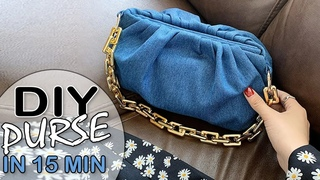 SO LOVELY DIY JEANS BAG CUT & SEW METHOD ~ Old Jeans Recycle Tutorial Trendy Design