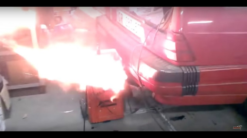 Alfa Rome 75 1 8 Turbo Megasquirt V4 launch test and flames by Brando Racing