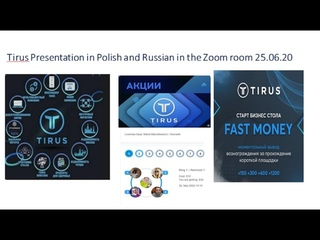 #Tirus Presentation in Polish and Russian in the Zoom room - detailed Speakers Maria, Larissa