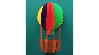 Воздушный шар. Аппликация из цветной бумаги. Поделки для детей в школу 1, 2, 3, 4 класс  и садик.