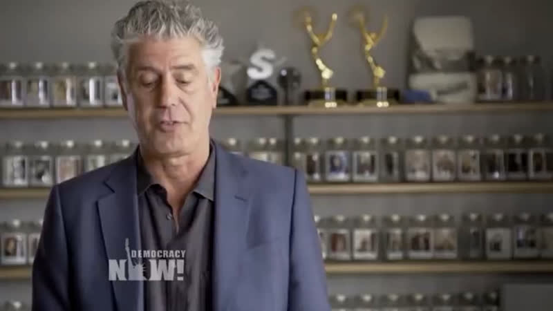 After Trip to Gaza Anthony Bourdain Accused World of Robbing Palestinians of Their Basic Humanity