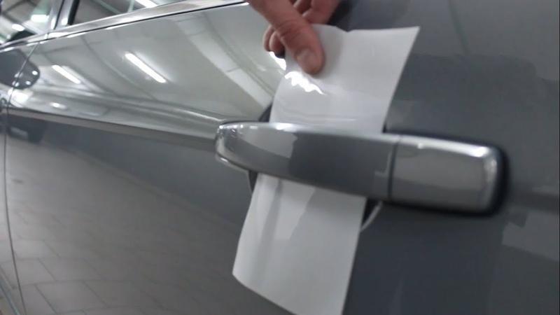 Оклейка пространств под ручками двери своими руками