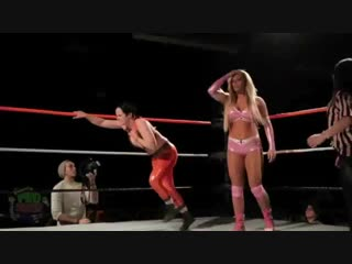 Female wrestling in the ring. attack breasts-part-7(s.g.)