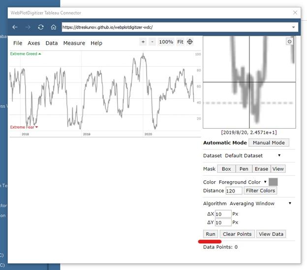 Извлечение данных из графиков при помощи Tableau Web Data Connector (WDC) на примере анализа индекса страха и жадности (Fear and Greed Index), изображение №20
