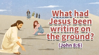 [weekend bible verse]  What had Jesus been writing on the ground? (John 8:6)