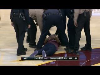 Kyrie Irving Fan Runs Onto Court | Jazz vs Cavaliers | February 28, 2014 | NBA 2013-2014 Season