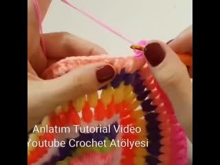Как связать коврик
